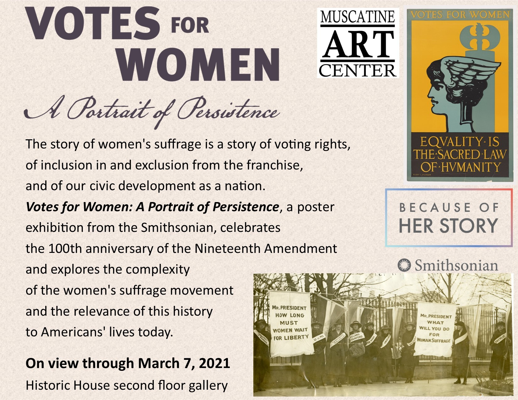Votes for Women: A Portrait of Persistence Image