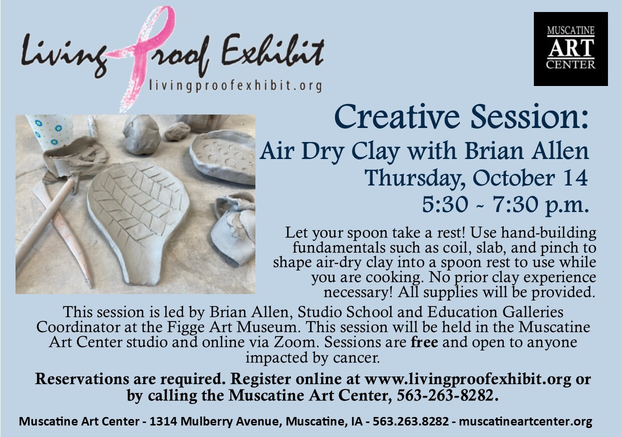 Living Proof Exhibit Creative Sessions: Air Dry Clay Spoon Rests with Brian Allen, October 14 Image