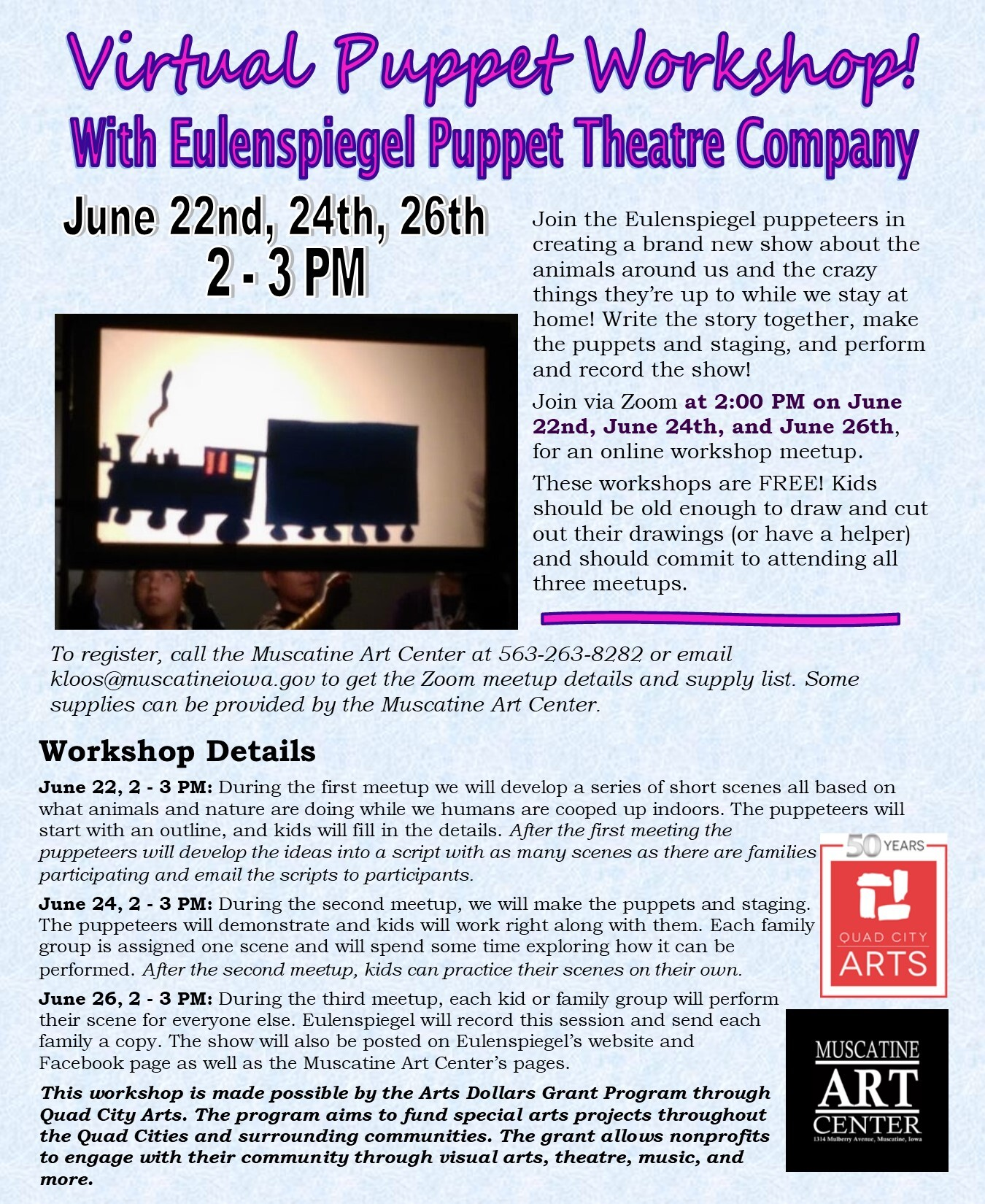 Shadow Puppet Workshop with Eulenspiegel Puppet Theatre Company Image