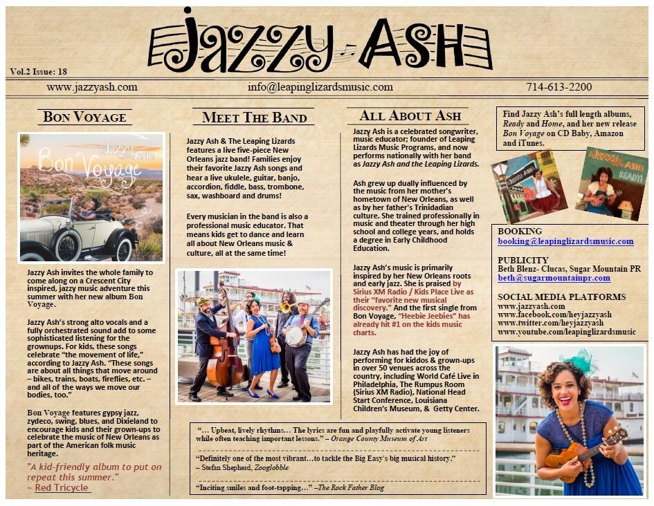 Quad City Arts Presents Jazzy Ash, October 28, 4:30 p.m. Image