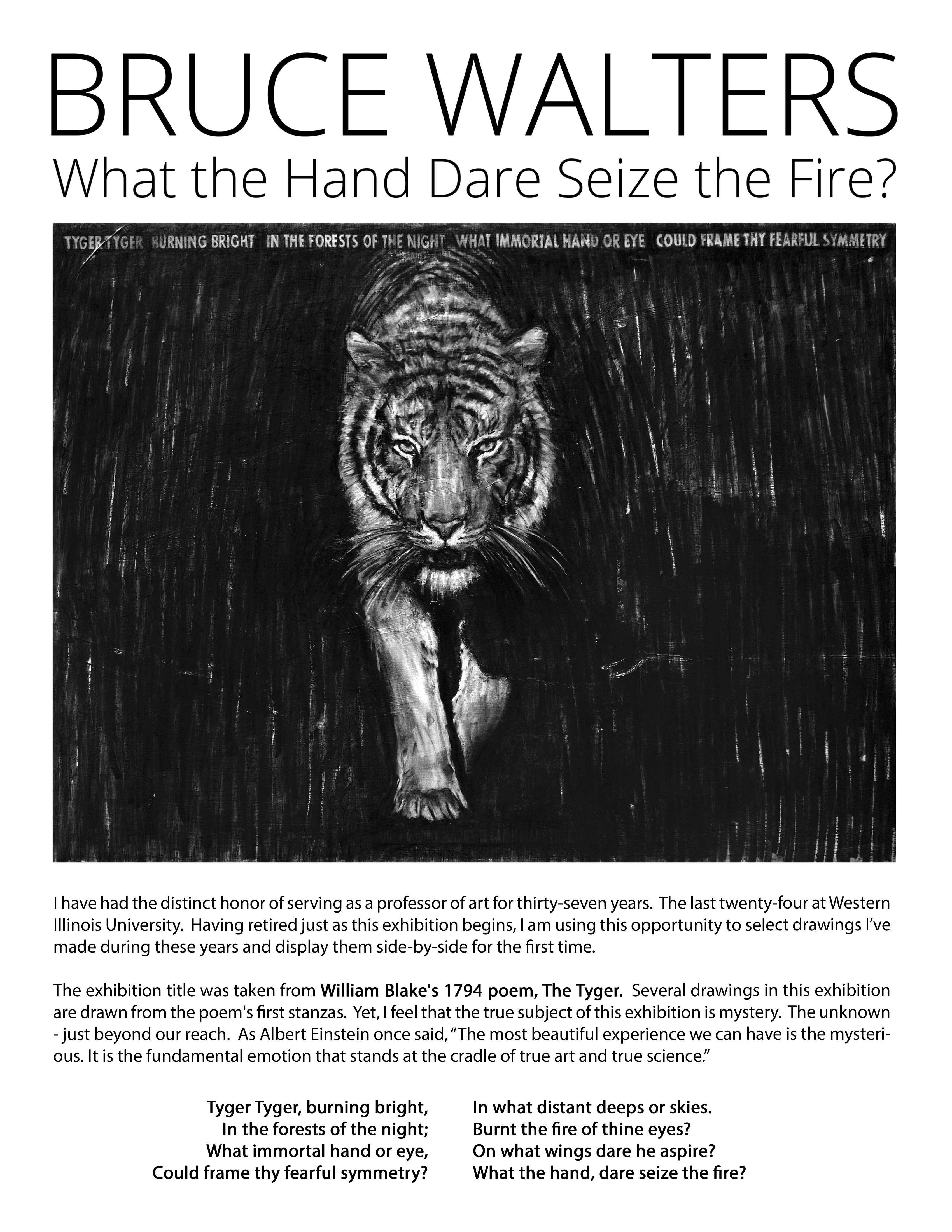 Bruce Walters: What the Hand Dare Seize the Fire? Image