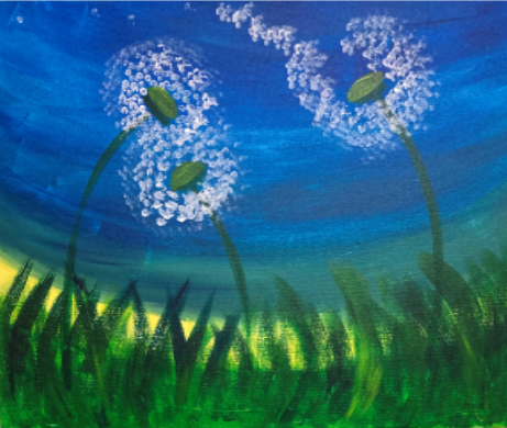 First Thursday- Acrylic Dandelions Image