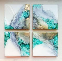 First Thursday- Alcohol Ink Ceramic Coasters March 4 Image
