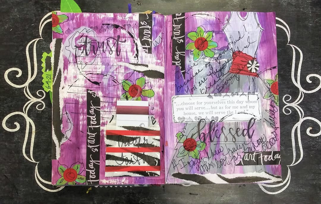 Living Proof Exhibit Creative Sessions: Art Journaling with Latoya D Lewis, August 12 Image