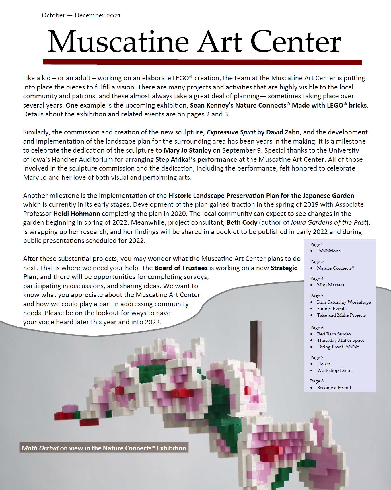October - November - December Quarterly Newsletter Image