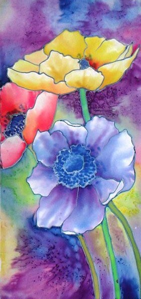 Red Barn Studio with Vada Baker - Pretty Poppies Watercolor Image
