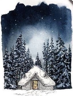 Red Barn Studio with Vada Baker- Snowy Night Image
